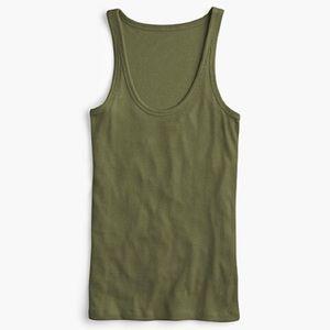 🌱 J.Crew Women's 1993 Favorite Tank Green